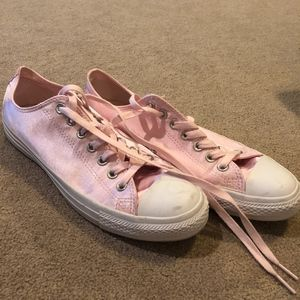 Pink Shiny Converse Sneakers